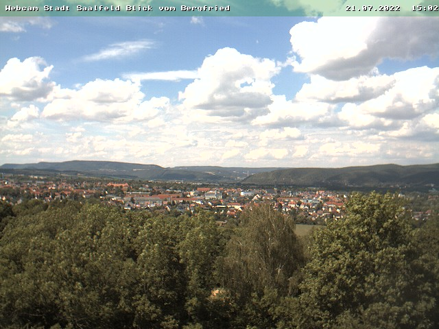 Webcam Saalfeld (Bergfried) zeigen